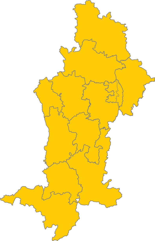 Schwaben Karte.Wahlen Bezirk Schwaben